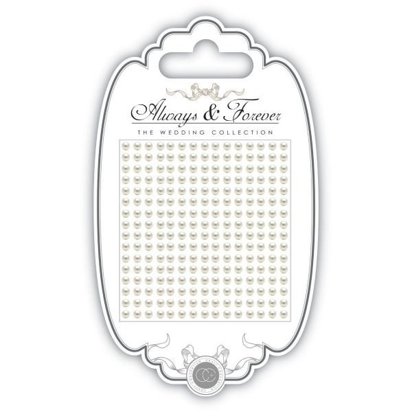 Always & Forever Adhesive Gems - 3mm - Pearl